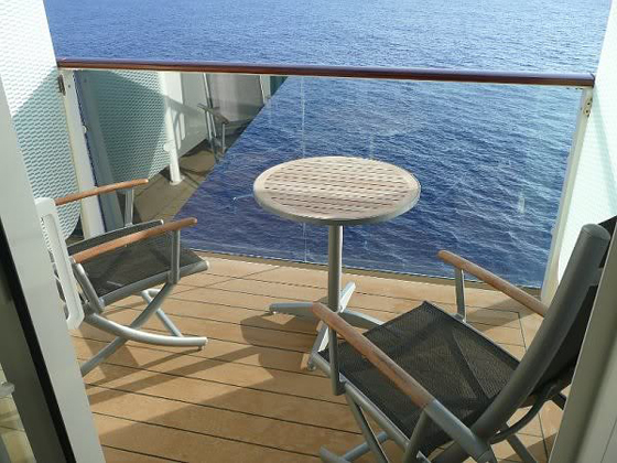 Celebrity veranda international design fusion for Alaska cruise balcony room